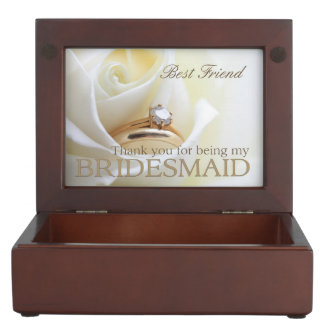 Best Friend   Thank you for being my Bridesmaid Keepsake Box