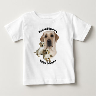 Best Friend Yellow Labrador Baby T-Shirt