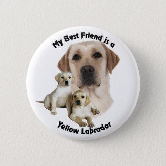Best Friend Yellow Labrador Pinback Button