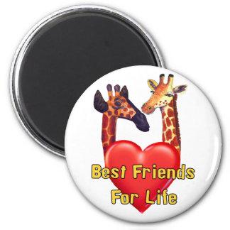 Best Friends 2 Inch Round Magnet