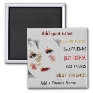 Best Friends 2 Inch Square Magnet