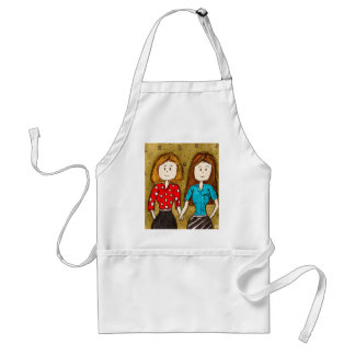 Best Friends 4 Ever Adult Apron