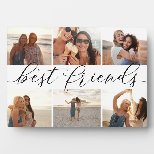 Best Friends 6 Photo Collage Plaque