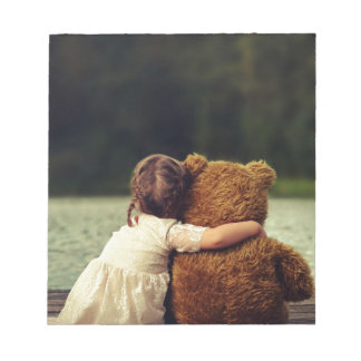 Best Friends A Little Girl and Her Teddy Bear Notepad
