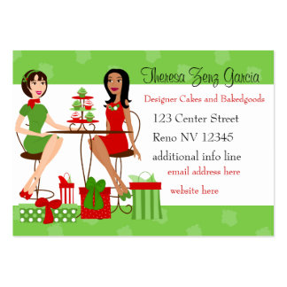 Best Friends and Cupcakes Christmas Business Cards