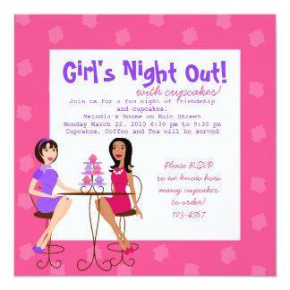 Best Friends and Cupcakes! Personalized Invitation
