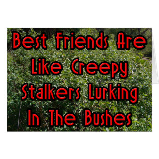Best Friends Are Like Creepy Stalkers Card