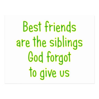 Best Friends are the siblings Postcard