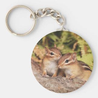 Best Friends Baby Chipmunks Keychain