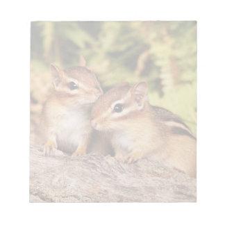 Best Friends Baby Chipmunks Notepad