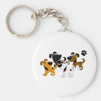 Best Friends! Basic Round Button Keychain