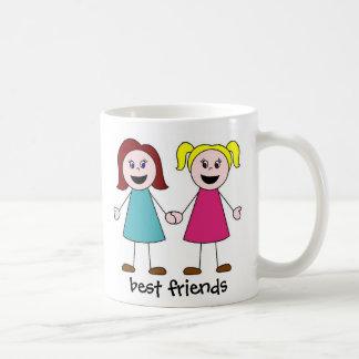 best friends, best friends classic white coffee mug