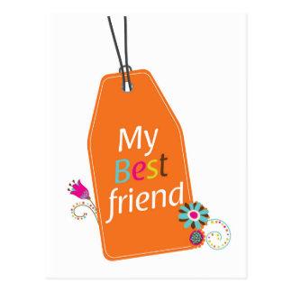 Best Friends BFF desgin Postcard