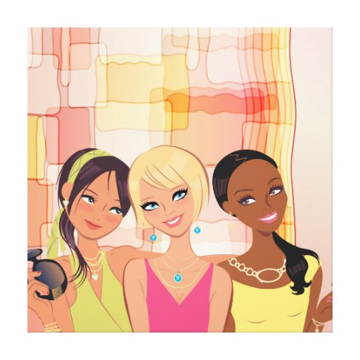 Best Friends BFF Wrapped Canvas Canvas Print