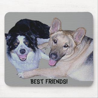 Best Friends Border Collie German Shepherd Mouse Pads