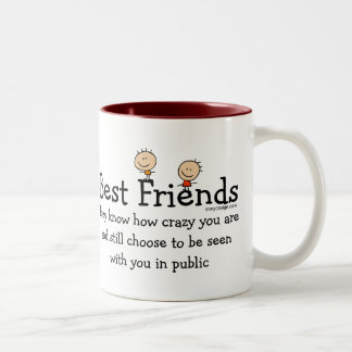Best Friends (both sides) Two-Tone Coffee Mug