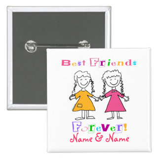 Best Friends Pinback Button