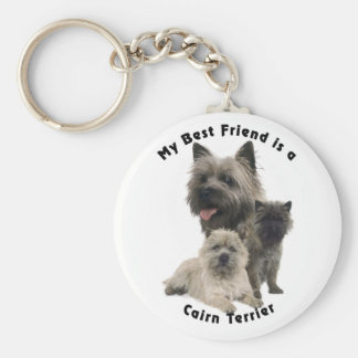Best Friends Cairn Terrier Key Chain