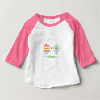 Best Friends: Cake & Ice Cream Baby T-Shirt