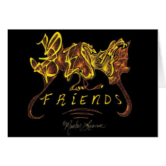 Best Friends Calligraphy Card