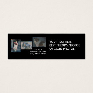 Best Friends,cars,pets,wedding Photos Bookmark Mini Business Card