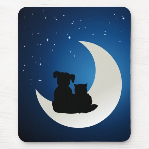 Best Friends Cat and Dog mousepad