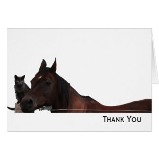 Best Friends Cat and Horse Cuddle Up Card