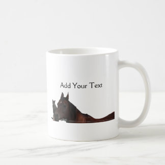 Best Friends Cat and Horse Cuddle Up Coffee Mug