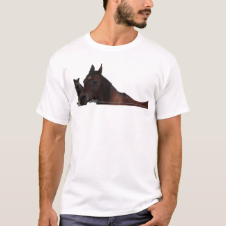 Best Friends Cat and Horse Cuddle Up T-Shirt