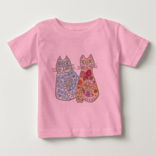 Best Friends Cat Design Baby T-Shirt