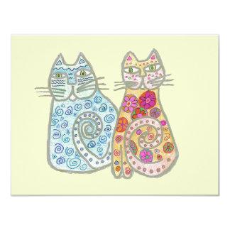Best Friends Cat Design Card