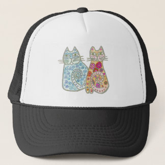 Best Friends Cat Design Trucker Hat