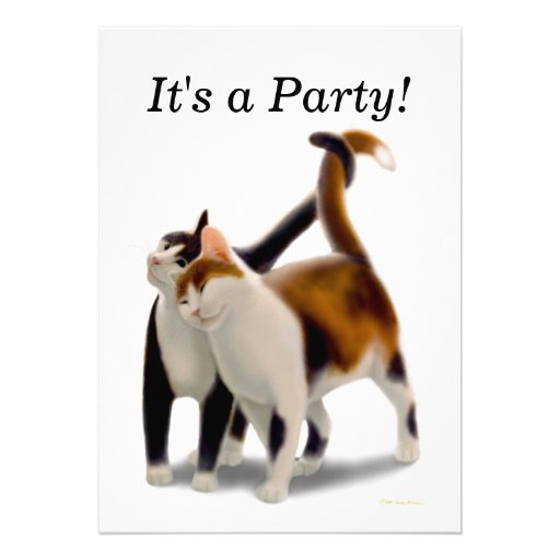 Best Friends Cats Party Invitation