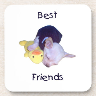 best friends (chihuahua) beverage coaster