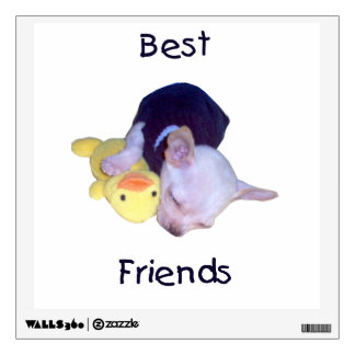 best friends (chihuahua) wall decal