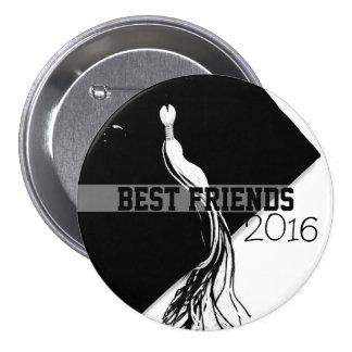 Best Friends Class of 2016 Black Hat Button