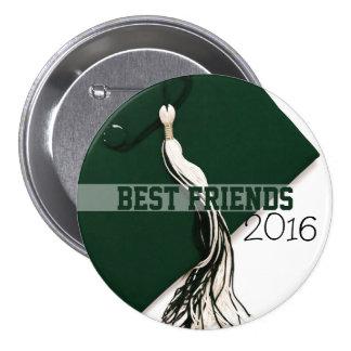 Best Friends Class of 2016 Green Hat Button