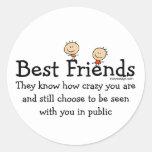 Best Friends Classic Round Sticker