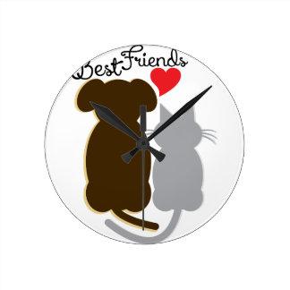 Best Friends Round Wall Clocks