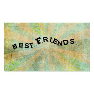 Best Friends Collage Style Sunburst Business Cards