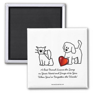 Best Friends Collection Song 2 Inch Square Magnet