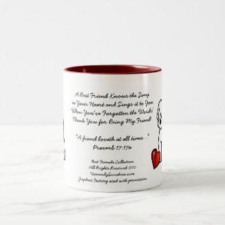Best Friends Collection Song Two-Tone Coffee Mug
