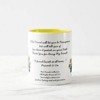 Best Friends Collection Transparent Two-Tone Coffee Mug
