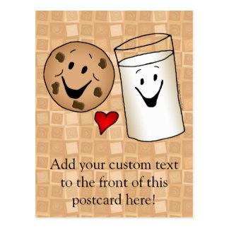 Best Friends, Cookies Love Milk Postcard
