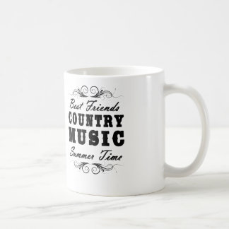 best friends country music summer time coffee mug