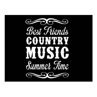 Best Friends, Country Music, Summer Time Postcard