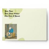 Best Friends ~ Cowboy & Australian Shepherd Envelope