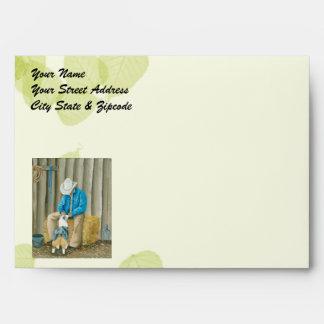 Best Friends ~ Cowboy & Australian Shepherd Envelopes