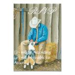 Best Friends ~ Cowboy & Australian Shepherd Custom Invite