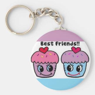 Best Friends Cupcakes Keychain